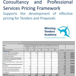 Consulting Pricing Framework: Tool for Project Costing
